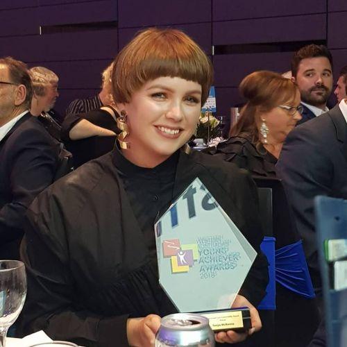 Scott Print Environment and Sustainability Award winner Tanya McKenna.