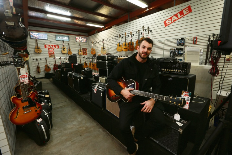 Scot Henderson (Theo's grandson). After 53 years of operation, Theo's Music is closing down. Picture: Andrew Ritchie d483614