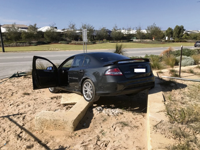 Stolen car abandoned on Marmion Av in Jindalee