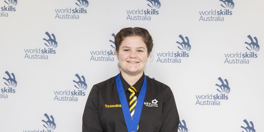 Brandi Burnett won gold in the WorldSkills National Championships.