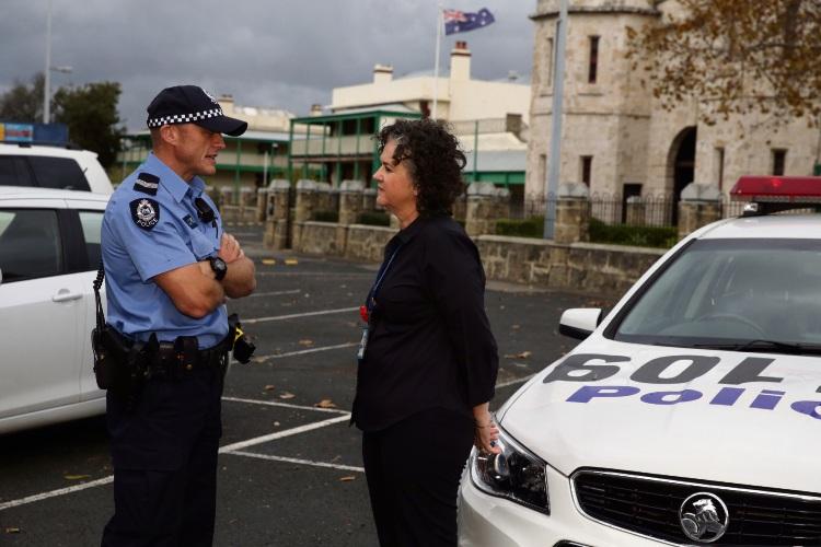 Senior Constable James Wilson and Senior Constable Belinda Crafford. Picture: Martin Kennealey d483470