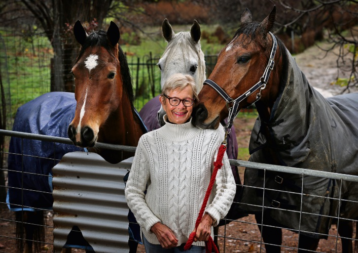 Diane Bennit of Kalamunda, with Garradon and Ripley. Diane was appointed a Member (AM) of the Order of Australia in the 2018 Queen's Honours List. Picture: David Baylis d483581