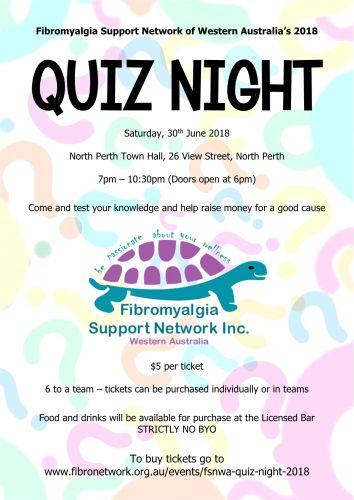 Fibromyalgia Support Network of Western Australia's 2018 Quiz Night
