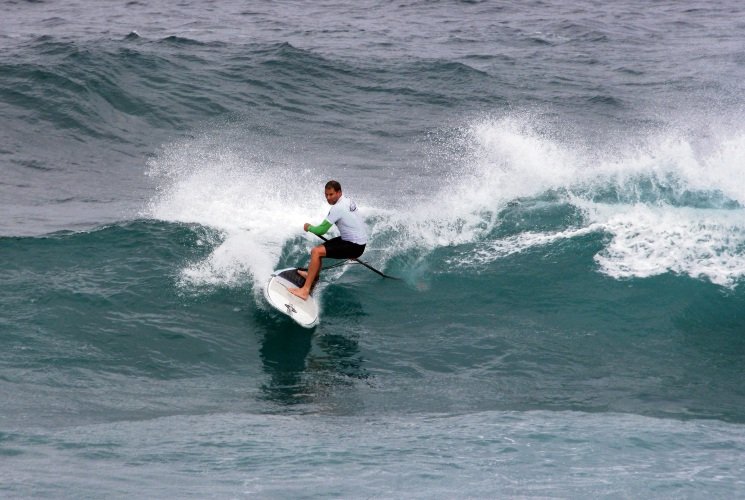 Peter Tomsett hopes to make waves in the final event of the WA SUP titles this weekend. Picture: Justin Majeks