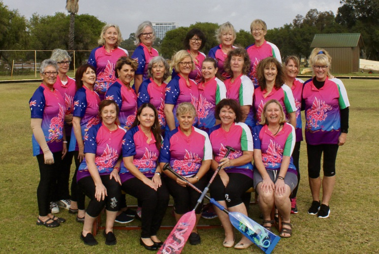 Amazon Perth Dragon Club's Florence-bound team.