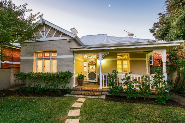 This Barker Road home is a good example of renovated character properties in demand in Subiaco.