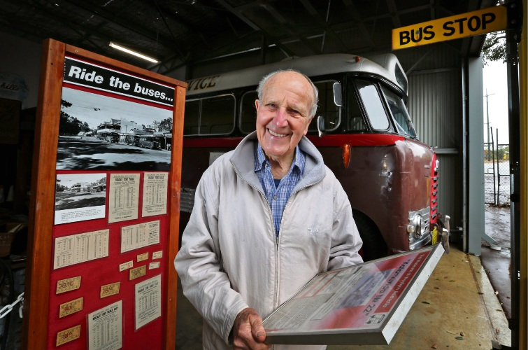 Buses just the ticket to Medal of the Order of Australia for Lesmurdie man