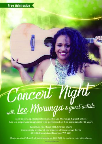 Concert Night with Lee Morunga & Guests