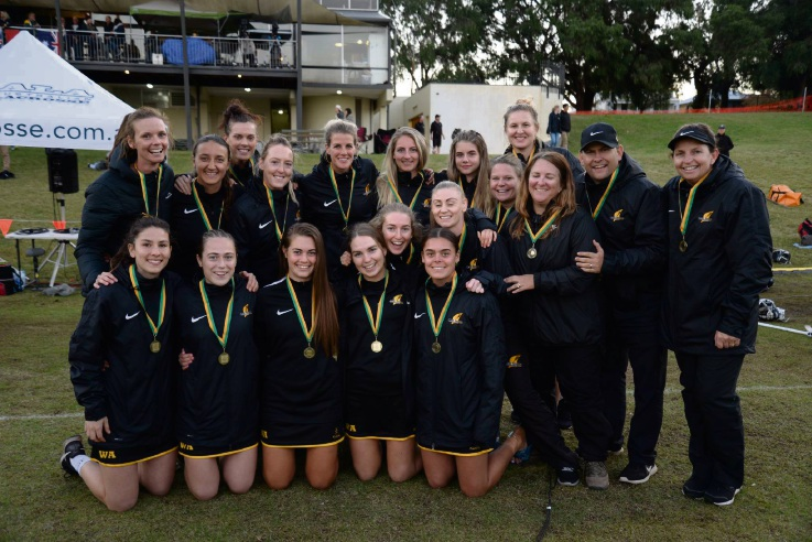The winning WA women's team.