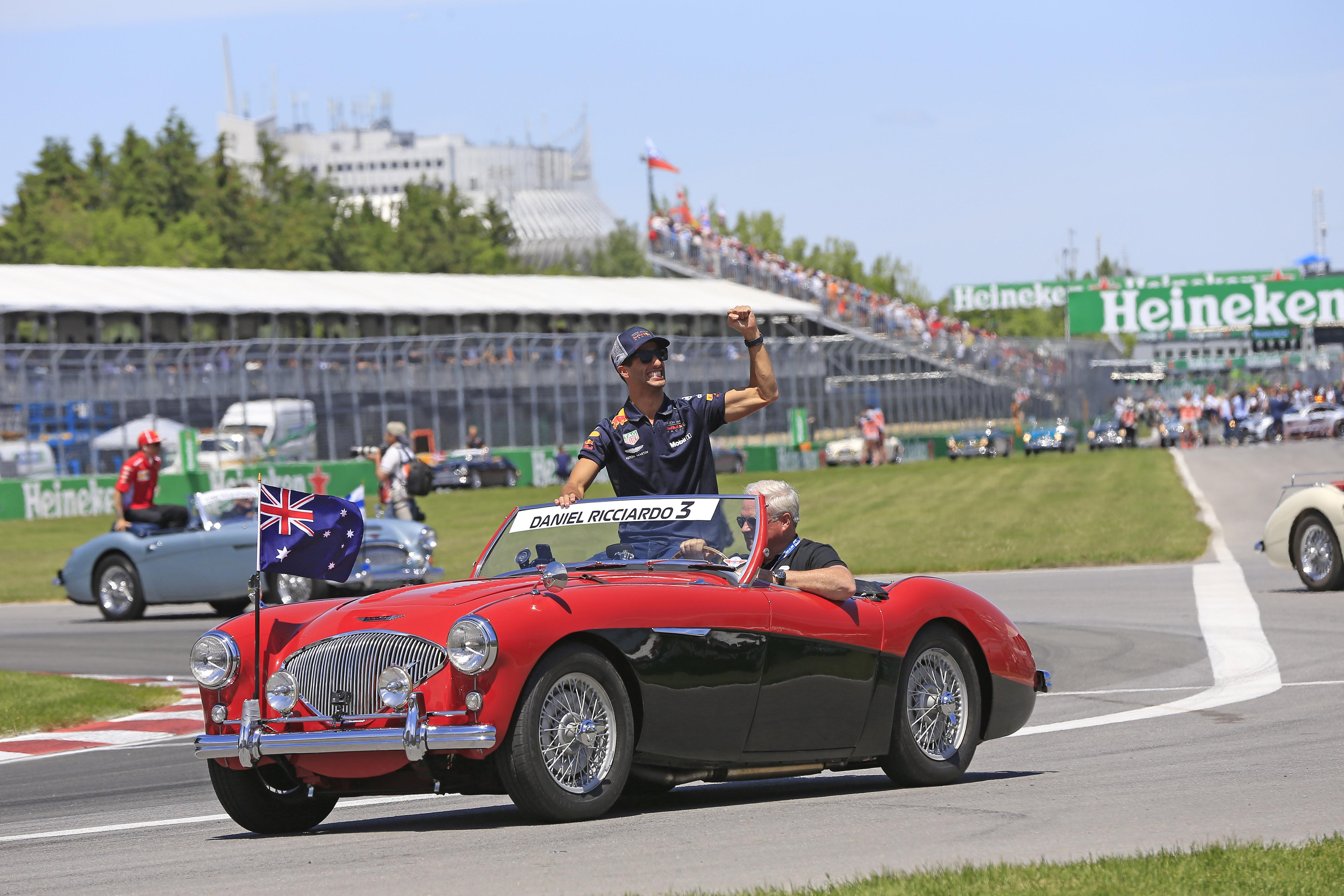 Daniel Ricciardo in the pre-race parade