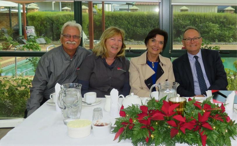 Helen and Michael Job, Helen Court and David Templeman enjoy the celebrations.
