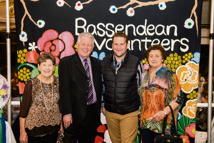 Gwen Fenech OAM JP, Town of Bassendean chief executive Bob Jarvis, Cr John Gangell, Anne Brinkworth (Freeman of the Town).