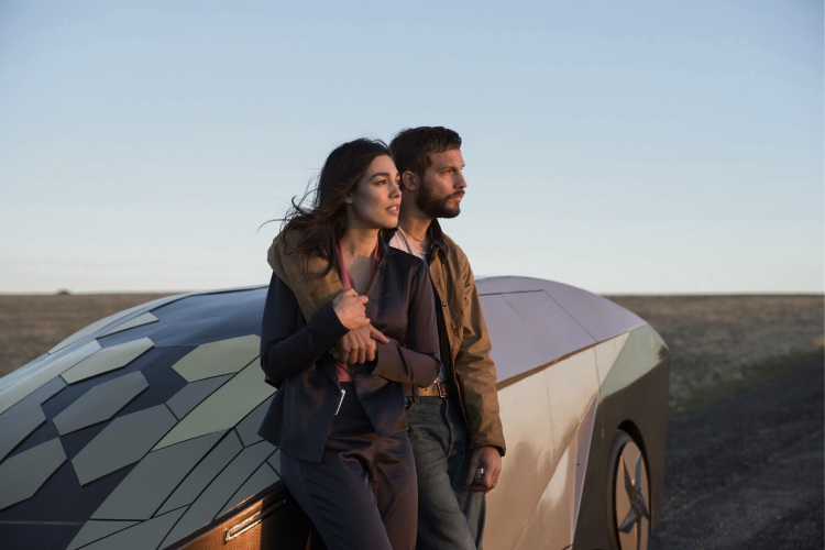 Melanie Vallejo and Logan Marshall-Green in Upgrade.