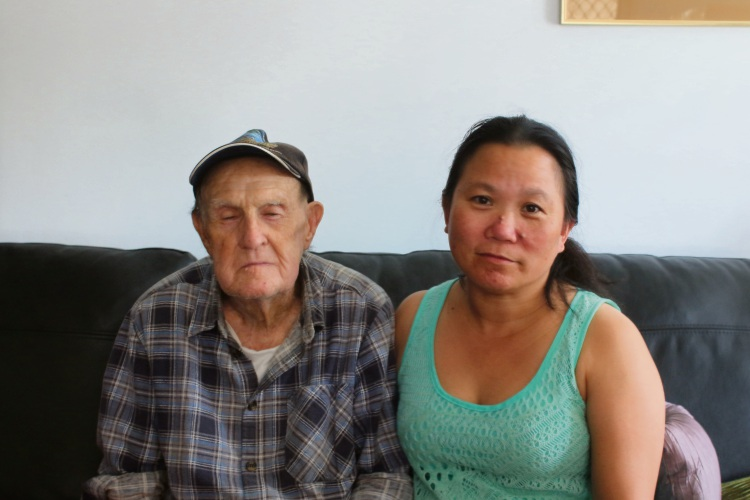 Bill and Nancy Anglesey. Bill had his foot badly injured during the burglary.