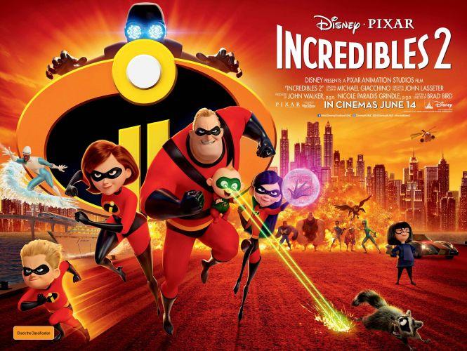 Win 1 of 10 family passes to Disney●Pixar's INCREDIBLES 2