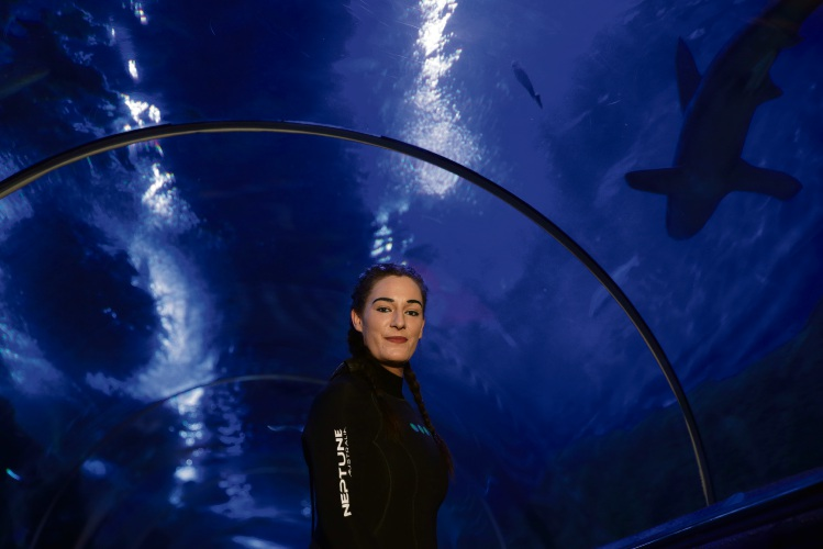 SARA Pomare is preparing to take the plunge and face her fear this week. The 32-year-old from Kallaroo will snorkel with the sharks at AQWA to raise money for HeartKids as part of Super Boss.