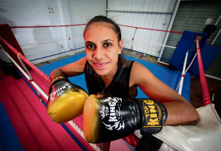 Primed for the punch: Kaelee Mallard is gunning for the Australian flyweight Muay Thai title.  Picture: David Baylis www.communitypix.com.au   d468307