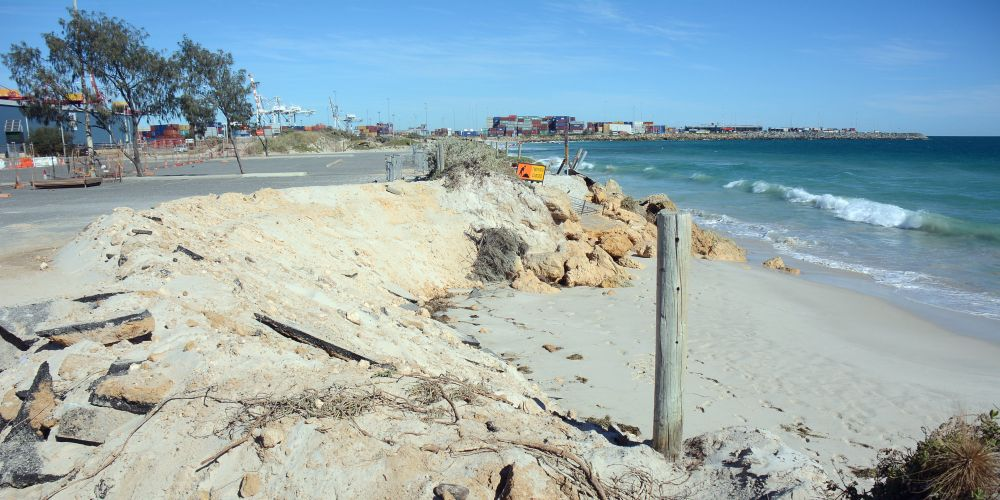 The FPA says natural processes erode and create Port Beach. This picture shows the most recent erosion.