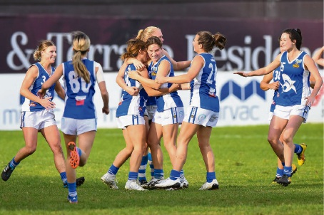 East Fremantle's women are undefeated midway through the WA Women's Football League season.(credit: Total Sports Photography)