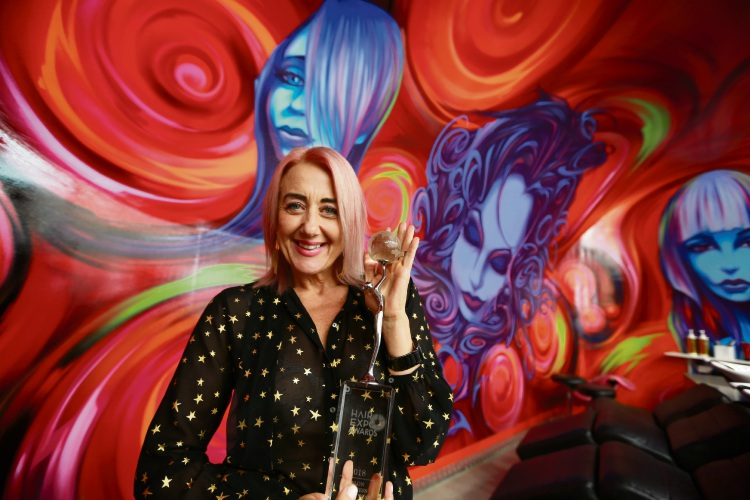 Circles owner Sharlene Lee. Circles of Subiaco has just taken out Salon Business of the Year at the Hair Expo awards. Picture: Andrew Ritchie