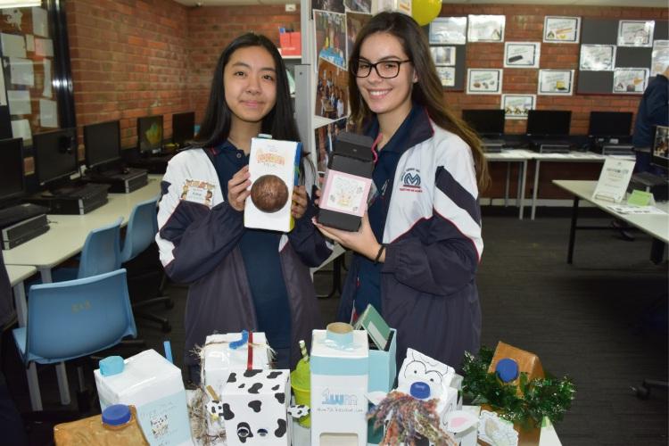 Morley SHS Year 11 students Madison Durgutouski and Kimlai Dang.