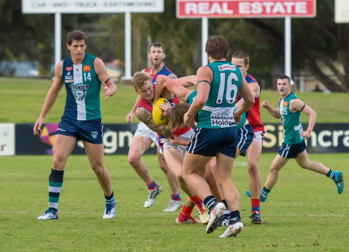 It was hard slog for West Perth against Peel. Picture: Dan White