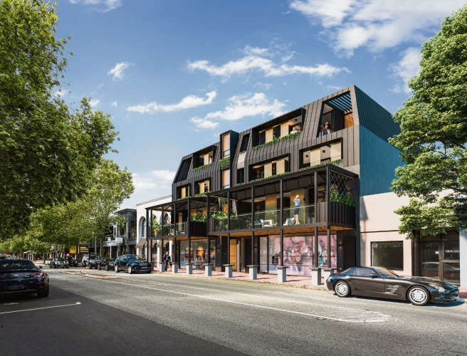 An artist's impression of The Rokeby development in Subiaco.