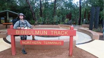 Ethan Giacomel (18), of Karrinyup, at the end of the Bibbulmun Track.