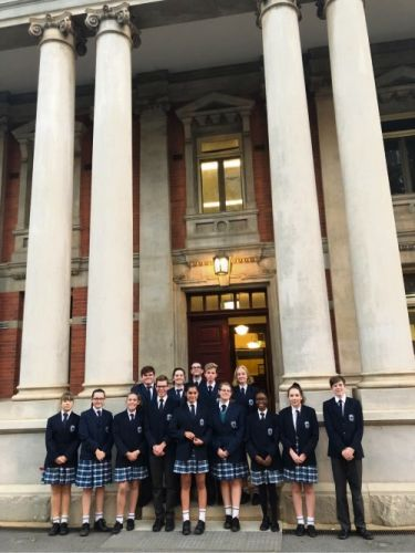 Living Waters Lutheran College students at the Supreme Court Building, Perth.