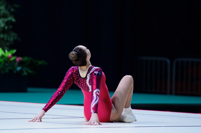 Elyse Palmer in action at the recent World Championships. Picture  Ivan Ferreira