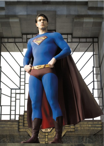 Brandon Routh as Superman in Superman Returns.