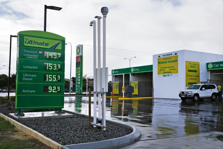 BP Australia is planning to build a service station in Jindalee, similar to one in Mindarie. Photo: Martin Kennealey