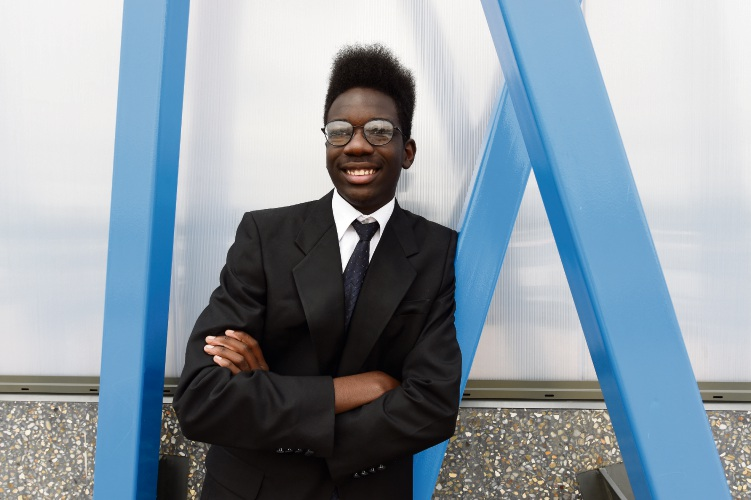 Dickson Wamukoya-Garbutt has been selected as Premier in the YMCA's Youth Parliament conference. Picture: Jon Hewson.