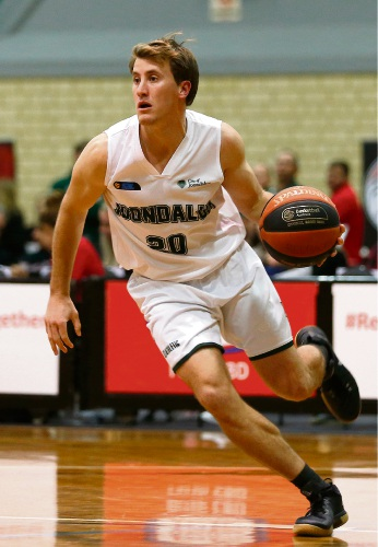 Reece Maxwell had nine rebounds against Perth. Picture: Michael Farnell, sportsimagery.com.au