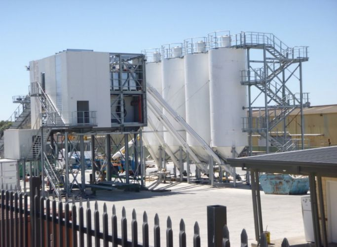 The Collier Road concrete batching plant.