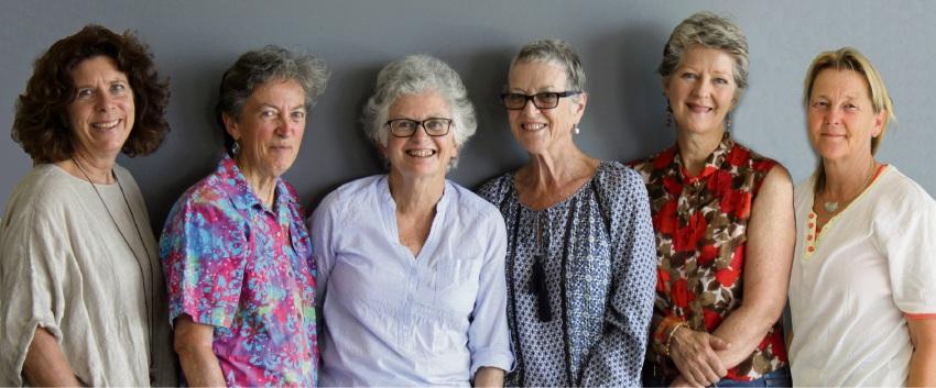 Peel artists Jennifer Sadler, Jill Fryer, Sue Grey-Smith, Dorothy Newland, Patricia Hines and Beate Kratt.