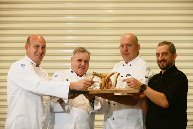 (l-r) Judges Paul Morrison, Patrick O'Brien, Jason Smith and Andy StreitOK were on the hunt for WA's best sausage when the three-month Royal Food Awards srated at Claremont Showground yesterday. Picture: Andrew Ritchie.