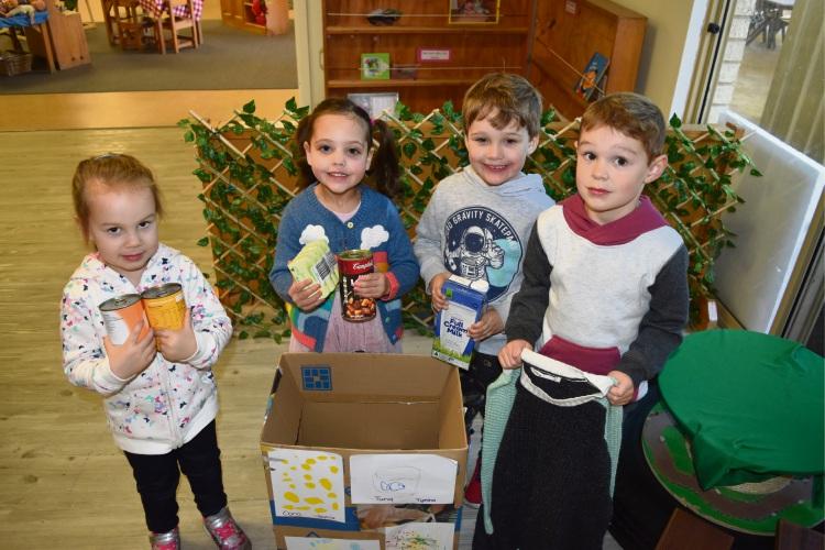 Ballajura Childcare Centre students Rylee Smith (3), Georgia Madison (3), Abel McMahon (3) and Leon Morgan (3).