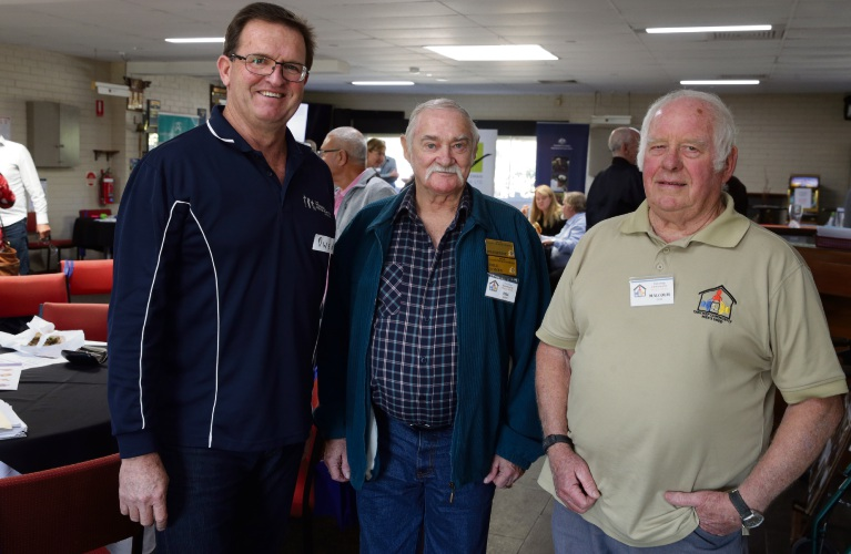 Guest speaker Owen Catto from Regional Men's Health with Bill Jones and Malcolm Gow.