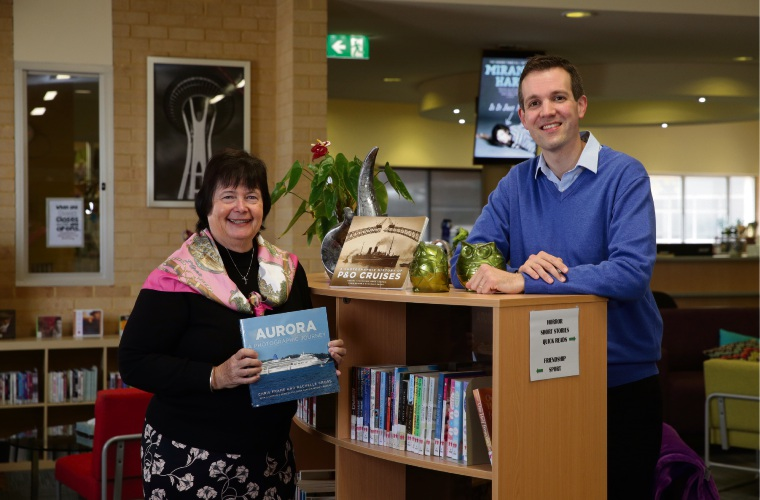 Assistant Principal Teresa Gastevich with author Chris Frame (Sorrento). Photo: Martin Kennealey