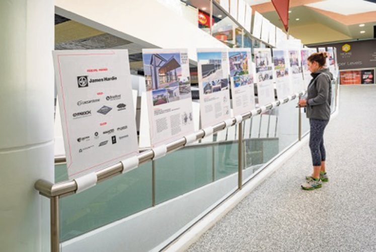 The Exhibition of Entries is on display along the ramps at Home Base in Subiaco.
