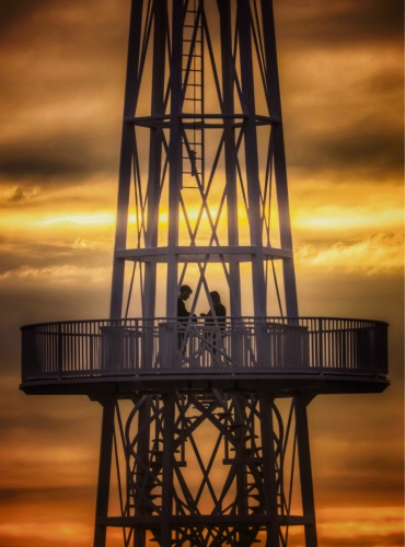 A couple's romantic moment at the Hillarys lighthouse was captured by Perth photographer Rod Maldon. Pictures: Rod Maldon