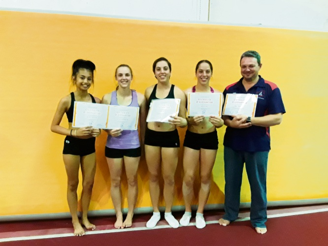 West Coast Gymnasts' state members.