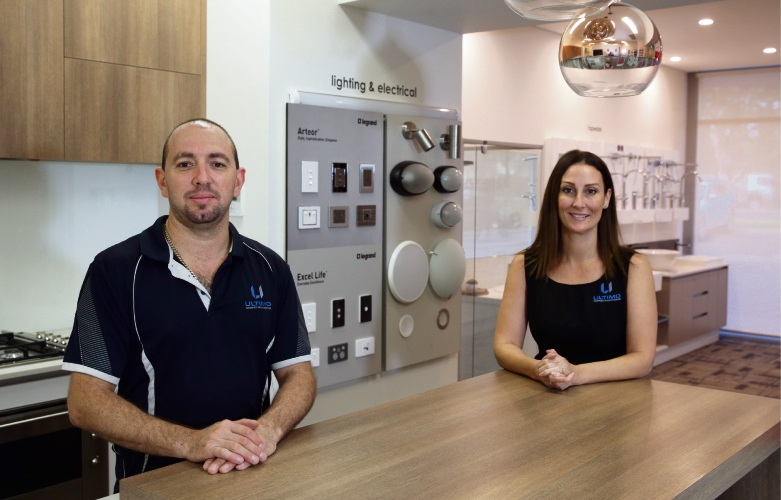 Angelo and Rebecca Rossi, from Ultimo Constructions, was judged Stirling Business of Year 2018. Picture: Martin Kennealey d484136