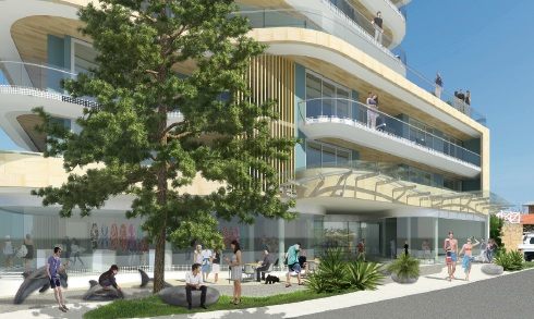 An artist's impression of the development by Hart Architects.