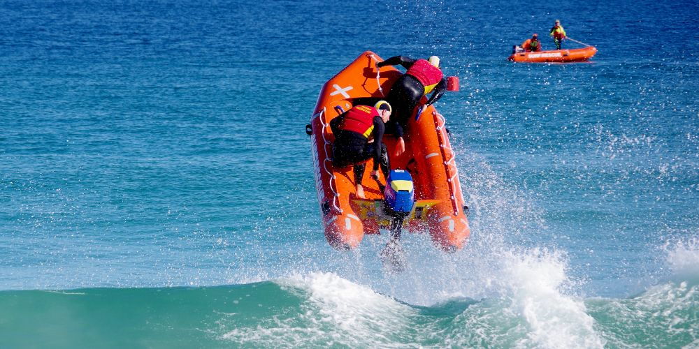 Mullaloo SLSC flying high after winning the 2018 WA IRB Racing Championships. Picture: Vivienne Greenfield
