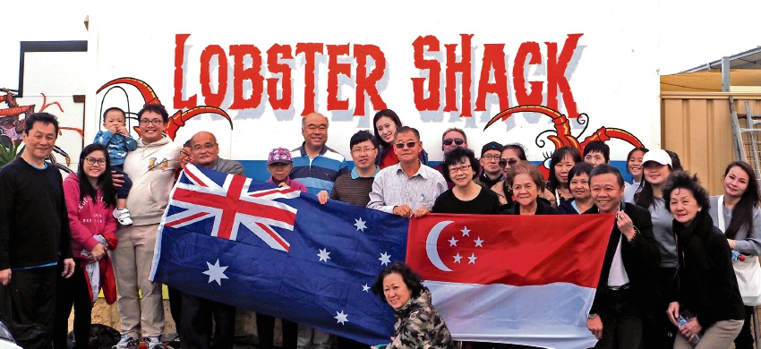 Moore MHR Ian Goodenough took delegates from the Australia Asia Exchange Conference to the Lobster Shack in Cervantes.