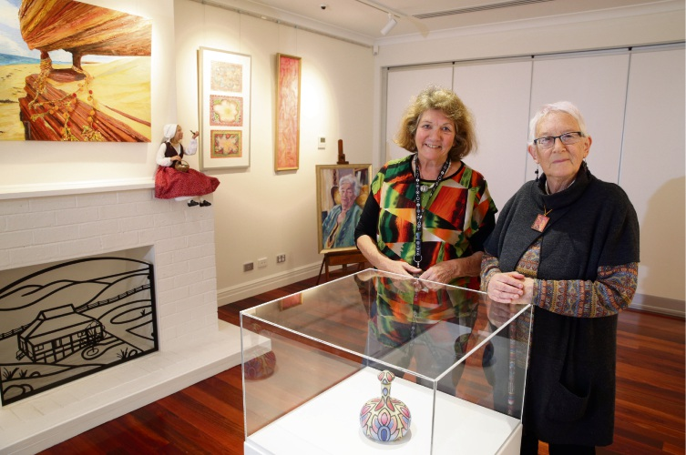 Two Rocks Yanchep Culture and Arts Network chairwoman Pam Annesley and vice-chairwoman Angie Beck in the redeveloped Mary Lindsay Homestead. Pictures: Martin Kennealey d484215