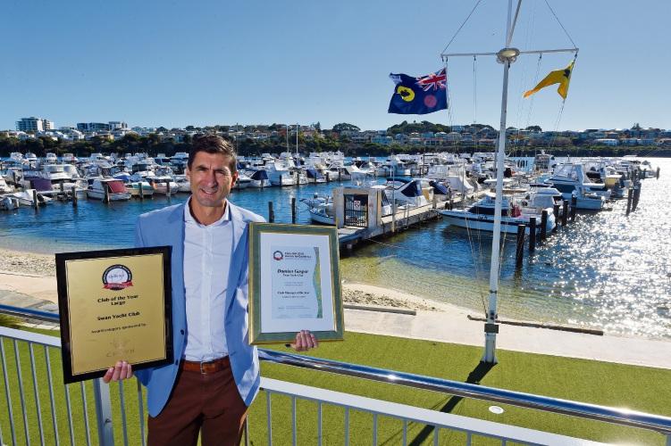 Swan Yacht Club general manager Damien Gaspar. Photo: Jon Hewson