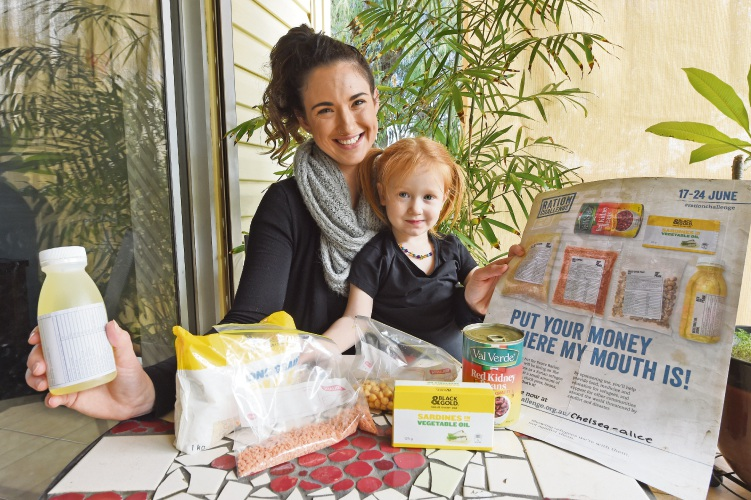 Chelsea Parmenter was inspired by her young family to do the challenge. She is pictured with her daughter, Ruby (2).